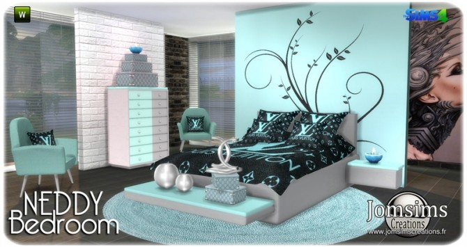 Neddy bedroom at Jomsims Creations image 1261 670x355 Sims 4 Updates