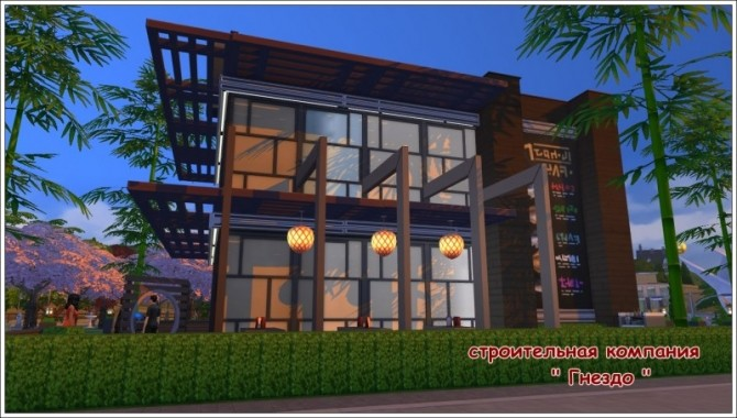 Sims 4 Japan restaurant at Sims by Mulena
