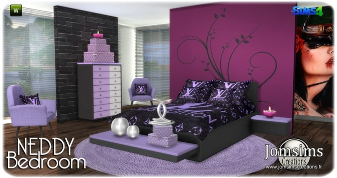 Neddy bedroom at Jomsims Creations image 1271 670x355 Sims 4 Updates