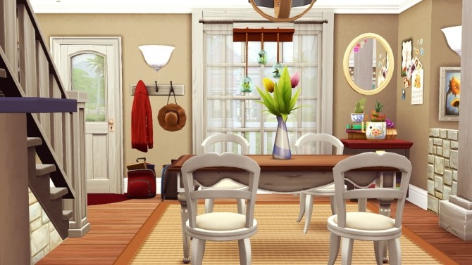 Red Cape Cod small family home at Jenba Sims image 1281 670x377 Sims 4 Updates