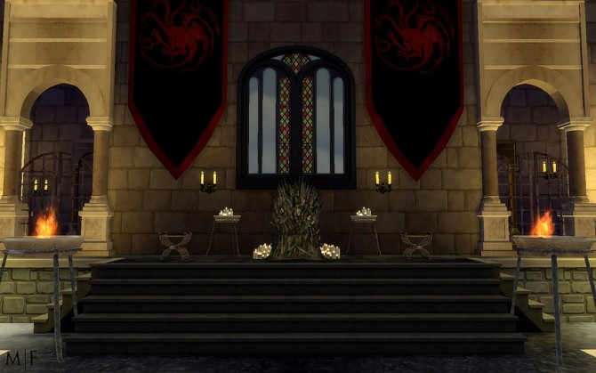 Red Keep Throne Room Build At Magnolian Farewell 187 Sims 4