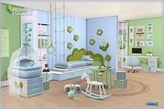 NATURE KIDS room (Pay) at SIMcredible! Designs 4 image 1296 670x447 Sims 4 Updates