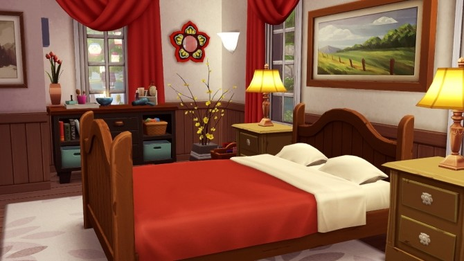 Red Cape Cod small family home at Jenba Sims image 1302 670x377 Sims 4 Updates