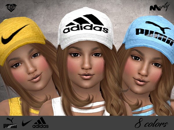 MP Sporty Caps for kids by MartyP at TSR image 1311 Sims 4 Updates