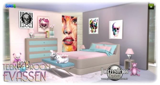 Evassen bedroom at Jomsims Creations image 13111 670x355 Sims 4 Updates