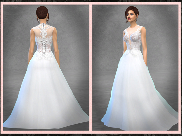 Sims 4 Evanjelin Bridal Gown by Five5Cats at TSR