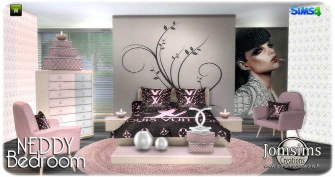 Neddy bedroom at Jomsims Creations image 1321 670x355 Sims 4 Updates