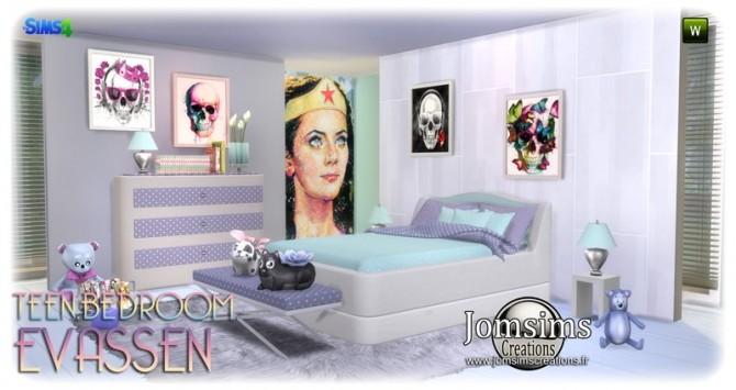 Evassen bedroom at Jomsims Creations image 1328 670x355 Sims 4 Updates