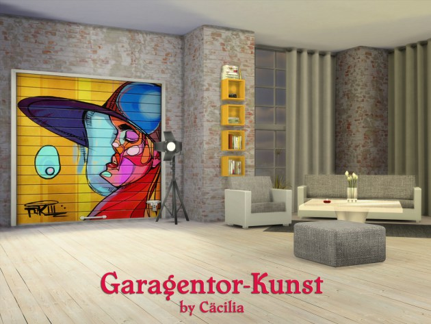 Garage door art by Cäcilia at Akisima image 1331 Sims 4 Updates