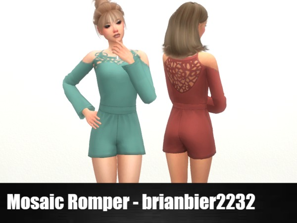 Mosaic Romper by brian.bier at TSR image 1338 Sims 4 Updates