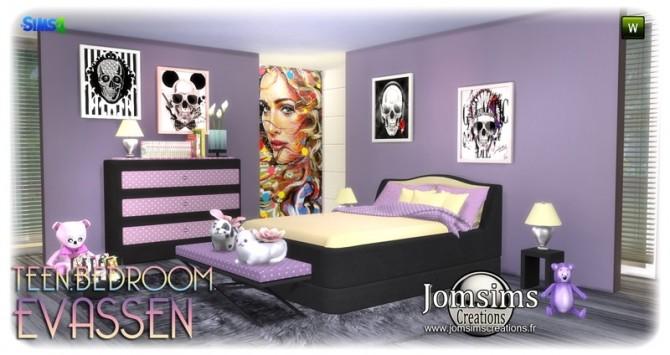 Evassen bedroom at Jomsims Creations image 1346 670x355 Sims 4 Updates
