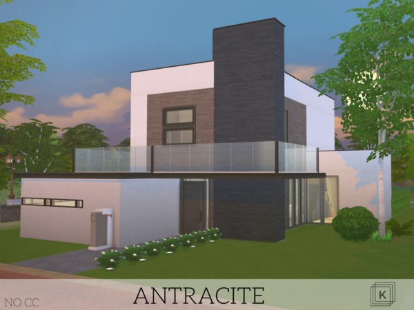 Sims 4 Antracite house by Kuri96 at TSR
