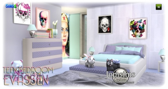 Evassen bedroom at Jomsims Creations image 1355 670x355 Sims 4 Updates