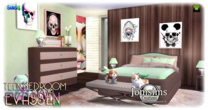 Evassen bedroom at Jomsims Creations image 1365 670x355 Sims 4 Updates