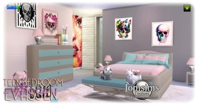 Evassen bedroom at Jomsims Creations image 1374 670x355 Sims 4 Updates
