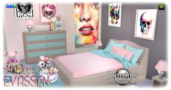 Evassen bedroom at Jomsims Creations image 1384 670x355 Sims 4 Updates