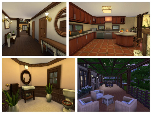 With Some Rustic 2 storey building by RightHearted at TSR image 14101 Sims 4 Updates