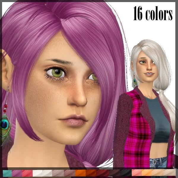 Sims 4 Newsea TellMe Hair retexture at Dachs Sims