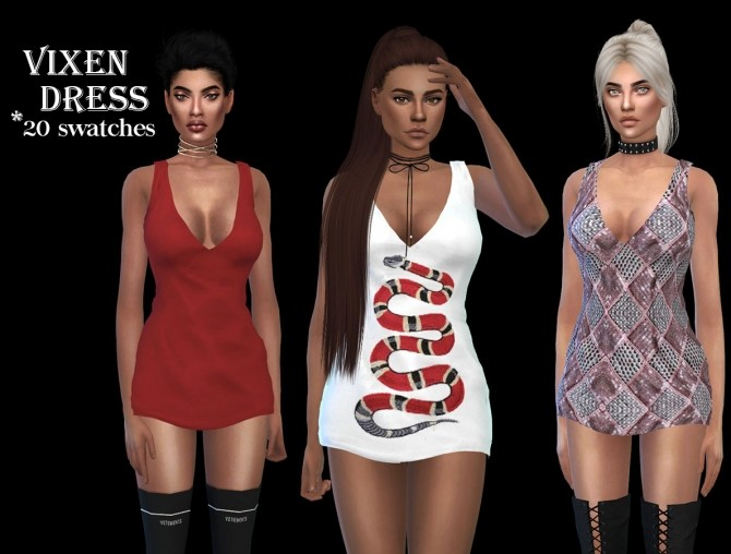 Sims 4 Vixen Dress at Leo Sims