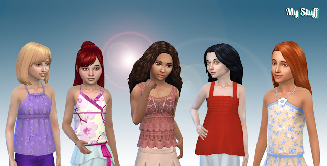 Girls Top Pack at My Stuff image 143 Sims 4 Updates