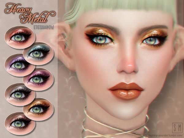 Sims 4 Heavy Metal Eyeshadow by Screaming Mustard at TSR