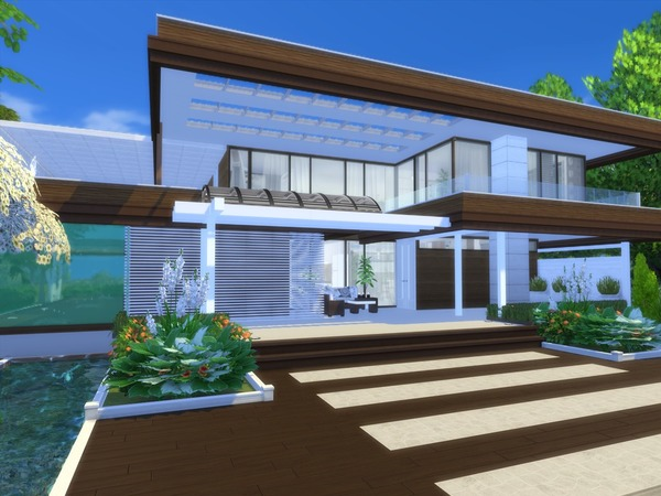 Modern Calanthe house by Suzz86 at TSR image 1490 Sims 4 Updates