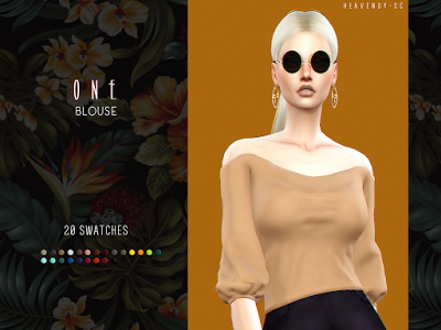 Sims 4 One Blouse by EnriqueSims at Heavendy cc