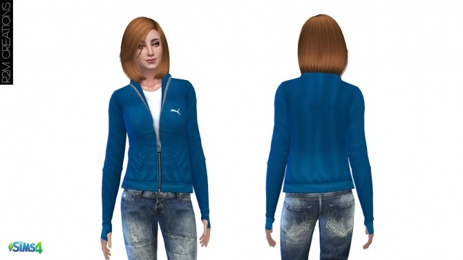 Sporty hoodie for women at R2M Creations image 1532 670x377 Sims 4 Updates