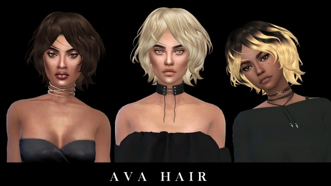 Sims 4 Ava Hair at Leo Sims