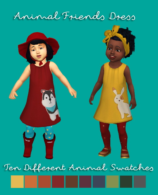 Animal Friends Dress + Wooden Stacking Block at Teanmoon image 154 Sims 4 Updates