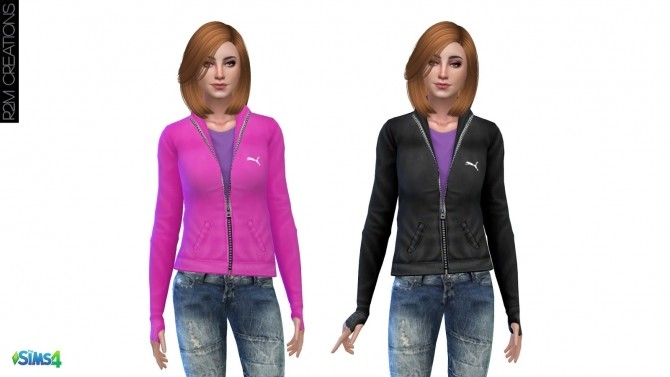Sporty hoodie for women at R2M Creations image 1542 670x377 Sims 4 Updates