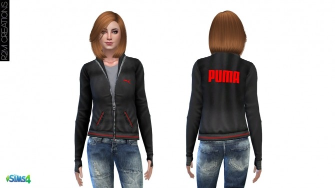 Sims 4 Sporty hoodie for women at R2M Creations