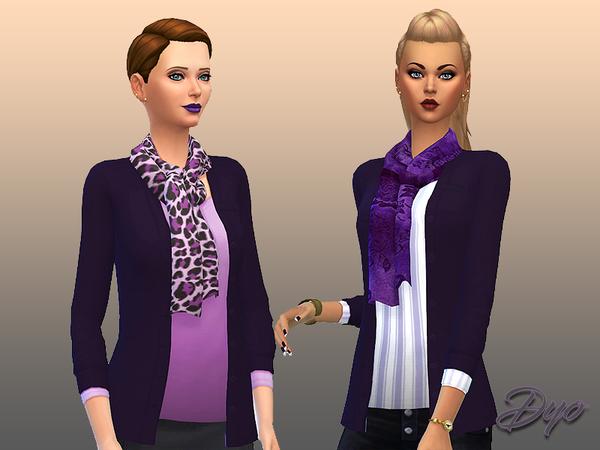 Purple fashion 3 by dyokabb at TSR image 1560 Sims 4 Updates