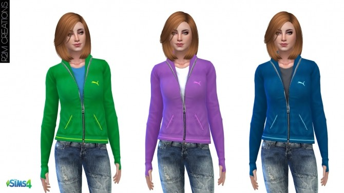 Sporty hoodie for women at R2M Creations image 1572 670x377 Sims 4 Updates