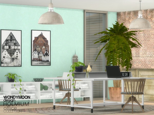 Sims 4 Holmium Office by wondymoon at TSR
