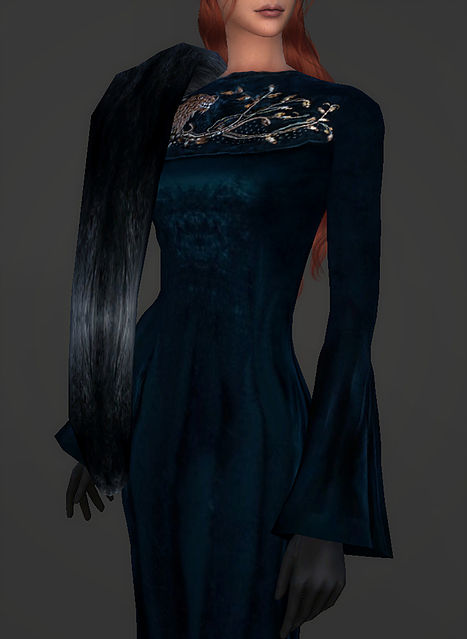 Wardeness of the North outfit Sansa Stark at Magnolian Farewell image 1609 Sims 4 Updates