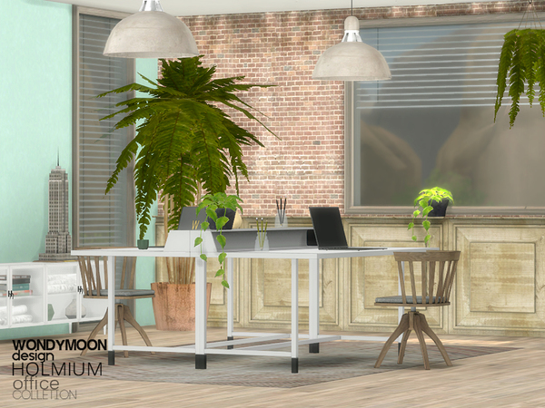 Holmium Office by wondymoon at TSR image 16112 Sims 4 Updates
