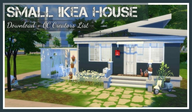 Small Ikea House At Dinha Gamer Sims 4 Updates