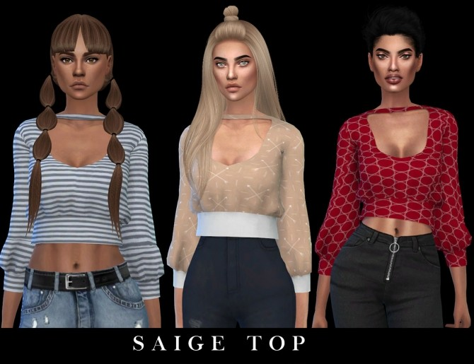 Sims 4 Saige Top at Leo Sims