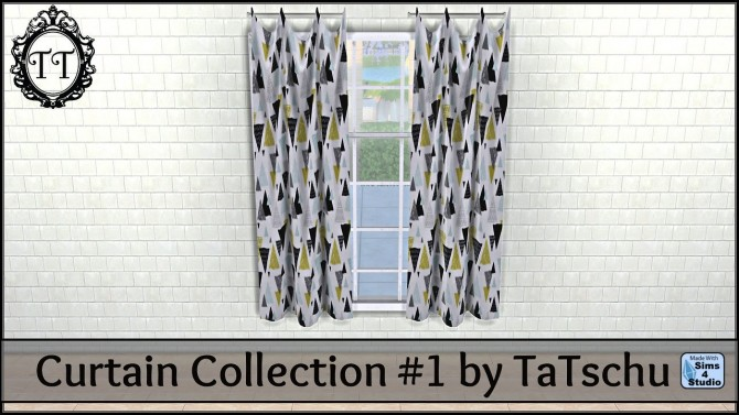 Sims 4 Curtain Collection #1 at TaTschu`s Sims4 CC