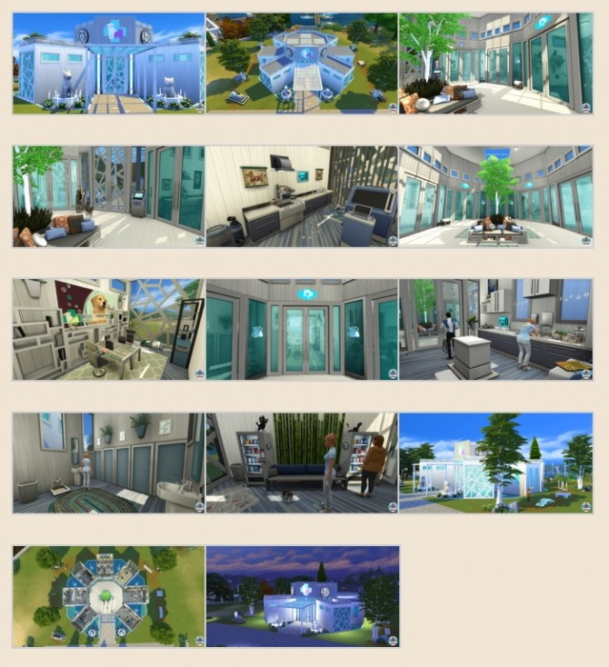 Sims 4 Vet's Clinic Bayview by Waterwoman at Akisima