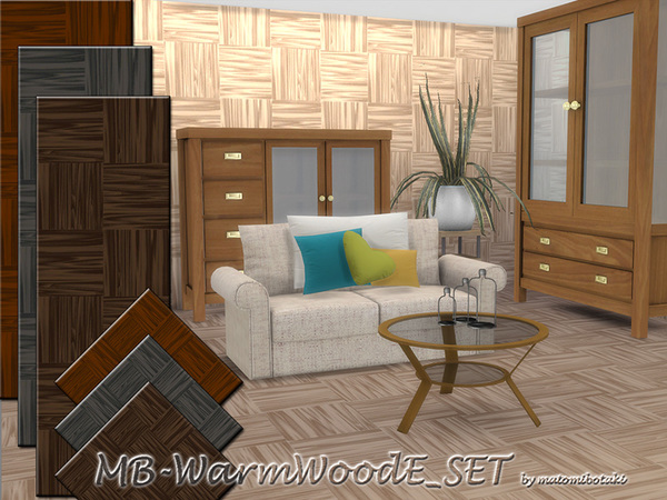 Sims 4 MB Warm Wood E SET by matomibotaki at TSR