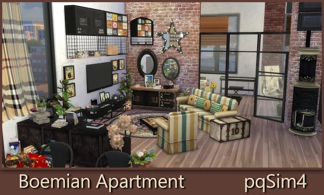 Bohemian Apartment at pqSims4 image 1687 Sims 4 Updates