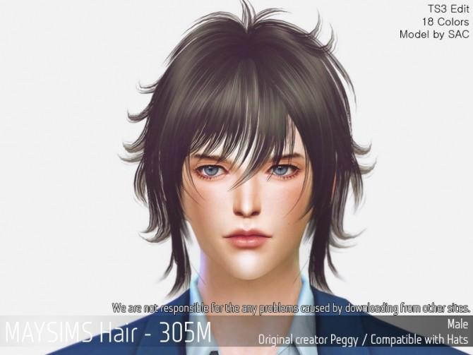 Sims 4 Hair 305M (Peggy) at May Sims