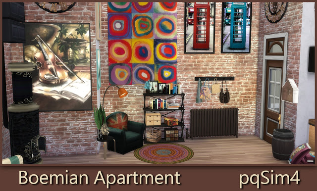 Bohemian Apartment at pqSims4 image 1697 Sims 4 Updates