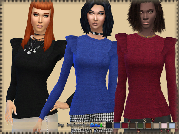 Sweater with wings by bukovka at TSR image 17 Sims 4 Updates