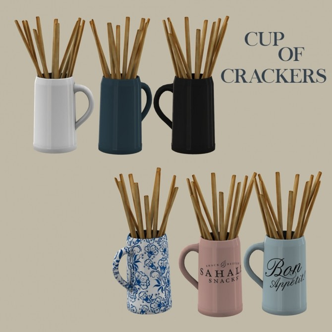 Sims 4 Cup Of Crackers at Leo Sims