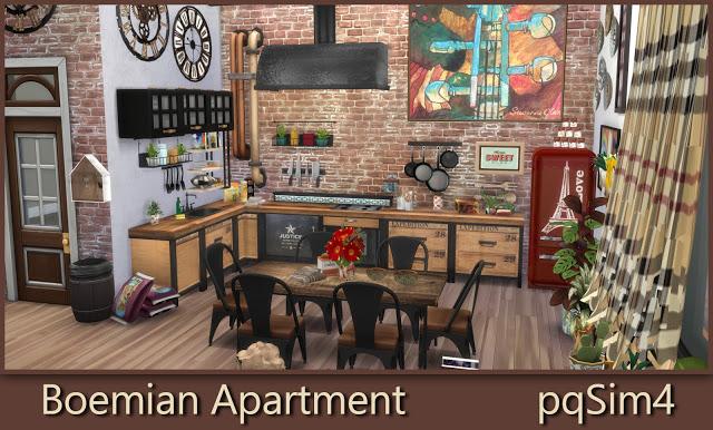 Bohemian Apartment at pqSims4 image 1707 Sims 4 Updates