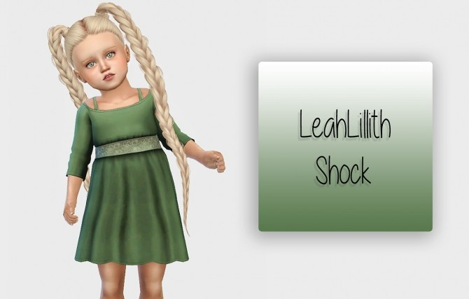 Sims 4 LeahLillith Shock Hair Toddler Version at Simiracle
