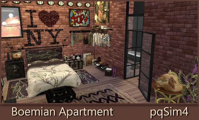 Bohemian Apartment at pqSims4 image 17113 Sims 4 Updates